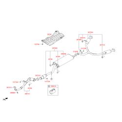 Глушитель с выхлопной трубой (Hyundai-KIA) 28600B8100