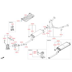 Глушитель с выхлопной трубой (Hyundai-KIA) 28650B8500