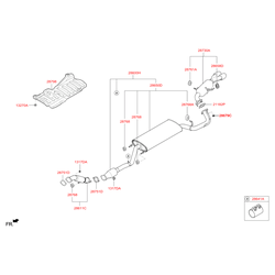 Глушитель с выхлопной трубой (Hyundai-KIA) 286502W300