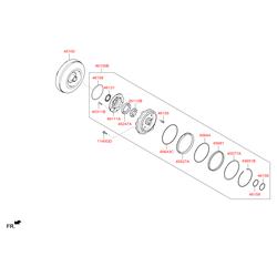 Гидротрансформатор АКПП (Hyundai-KIA) 451003BEB0