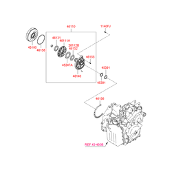 Гидротрансформатор АКПП (Hyundai-KIA) 451003A561