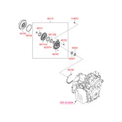 Гидротрансформатор АКПП (Hyundai-KIA) 4510039900