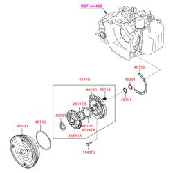 Гидротрансформатор АКПП (Hyundai-KIA) 4510039720