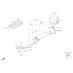 Выхлопная труба с резонатором (Hyundai-KIA) 286102W300