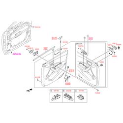 Выключатель стеклоподъемника двери (клавиша) (Hyundai-KIA) 935702W500
