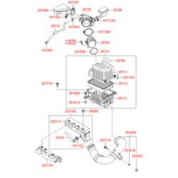 Воздуховод отопления салона (Hyundai-KIA) 282102B100