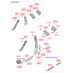 Внутренняя панель порога кузова (Hyundai-KIA) 858712B000J9