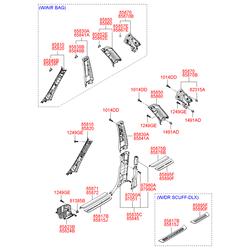 Внутренняя панель порога кузова (Hyundai-KIA) 858752B000J9