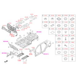 Внутренняя панель моторного отсека (Hyundai-KIA) 841202W101