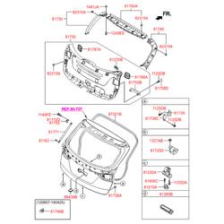Внутренняя панель багажной двери (Hyundai-KIA) 817502W000RYN