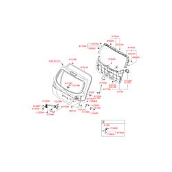 Внутренняя панель багажной двери (Hyundai-KIA) 817602B000J4