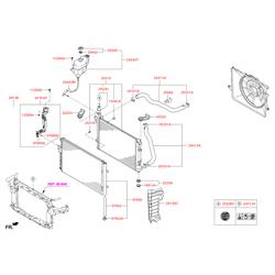 Вентилятор радиатора, 90вт (Hyundai-KIA) 253802B701