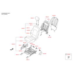 Вентилятор осевой подушки сидения, 70вт (Hyundai-KIA) 881952W200