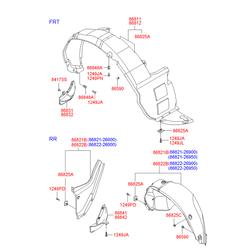 Брызговик передний левый (Hyundai-KIA) 8683126960
