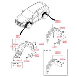 Брызговик (Hyundai-KIA) 868322W000