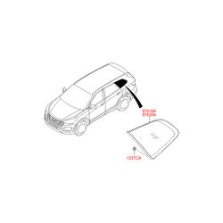 Боковое стекло кузова (Hyundai-KIA) 87820B8000