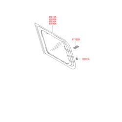 Боковое стекло (Hyundai-KIA) 8782026002