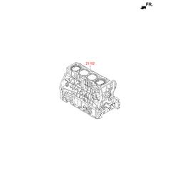 Блок цилиндров (Hyundai-KIA) 294TM2GA28D