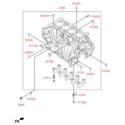 Блок цилиндров (Hyundai-KIA) 358F32FU00