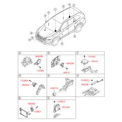 Блок управления центальным замком (Hyundai-KIA) 954802W300