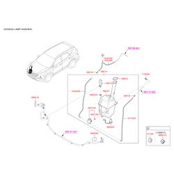 Бачок жидкости стеклоомывателя (Hyundai-KIA) 986202W600