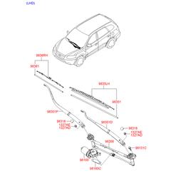 Бачок жидкости стеклоомывателя (Hyundai-KIA) 986202B000