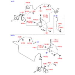 Бачок гидрожидкости сцепления (Hyundai-KIA) 416912B010