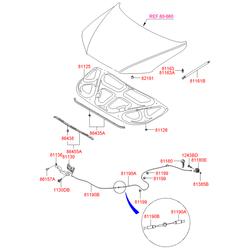 Амортизатор капота (Hyundai-KIA) 811602B000