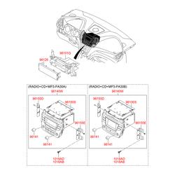 Автомагнитола стереофоническая, с cd-проигрывателе (Hyundai-KIA) 961802W7004X