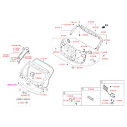 Ручка с механизмом открывания двери багажного отсека (Hyundai-KIA) 812602W500