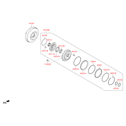 Гидротрансформатор АКПП (Hyundai-KIA) 451003BDE0