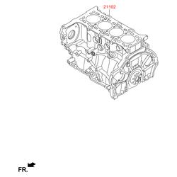 Блок цилиндров (Hyundai-KIA) 275F22FU00