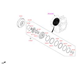 Гидротрансформатор АКПП (Hyundai-KIA) 451003BEF0