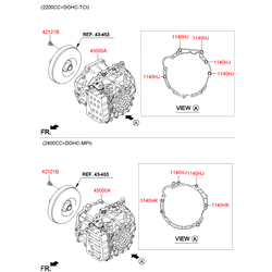 Коробки передач в сборе (Hyundai-KIA) 450003BEZ4