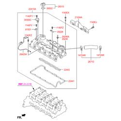 Клапанная крышка головки блока цилиндров (Hyundai-KIA) 224102F600
