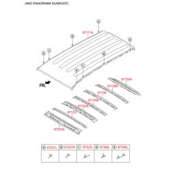 Рейлинг крыши (Hyundai-KIA) 67323B8000