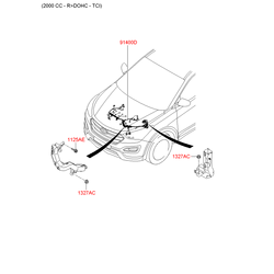 Проводка моторного отсека (Hyundai-KIA) 914002W110