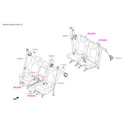 Ремень безопасности (Hyundai-KIA) 898302W051RYN