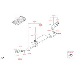 Выхлопная труба (Hyundai-KIA) 287102W400