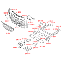 Шумоизоляция салона (Hyundai-KIA) 841242B210