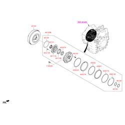 Гидротрансформатор АКПП (Hyundai-KIA) 451003BRA0