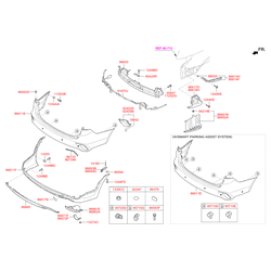 Противотуманный фонарь (Hyundai-KIA) 92405B8800