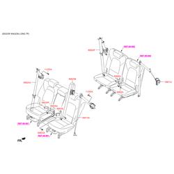Ремень безопасности задний правый (Hyundai-KIA) 89880B8300RYN