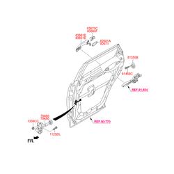 Ручка двери (Hyundai-KIA) 83661B8010