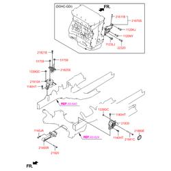 Опорный узел двигателя (Hyundai-KIA) 219502W300