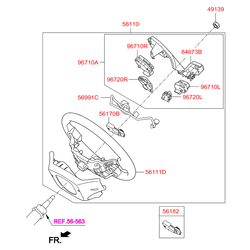Пластиковая накладка на руль (Hyundai-KIA) 967002W900NBC
