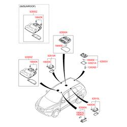 Фонарь подсветки салона (Hyundai-KIA) 928102B000J4