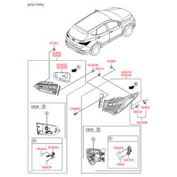 Фонарь (Hyundai-KIA) 924052W600