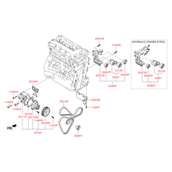 Шкив натяжителя ремня ГРМ (Hyundai-KIA) 2528725210