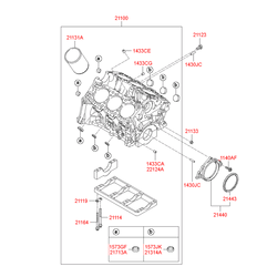 Блок цилиндров (Hyundai-KIA) 211003E0C0